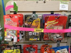 Approx. 15 1:64 scale die cast cars Racing Champions, Johnny Lightning, Ertl tractors
