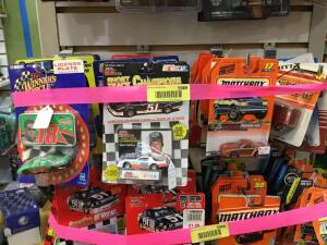 Approx. 20 1:64 scale die cast cars Racing Champions, Matchbox, Ertl