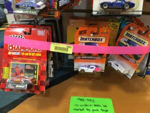 Approx. 15 1:74 scale die cast Racing Champions, Matchbox, Ertl