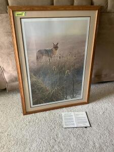 "John Seerey-Lester signed & numbered 19/950 ""Dawn on the Marsh"" Measures 29 x 39"