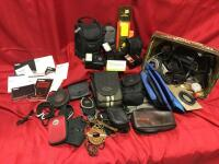 Camera cases, Canon Speedlites, Vivitar Electronic Flash and more. See photos.