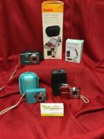 Kodak digital cameras: EasyShare C140, EasyShare M340 and MD1063. Charger & digital accessory kit.