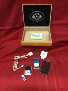 IPOD Touch 8gb, IPOD Nano 4gb, IPOD Mini 4gb, IPOD Shuffle 4gb, carry case and misc. cords