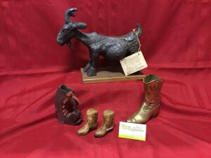 Reproduction of Picasso's Pregnant Goat and her boots One is solid brass