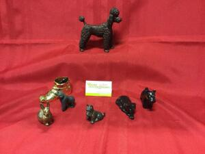 Animal figurines-Puppies, kitty, mouse, bunny and a gorilla