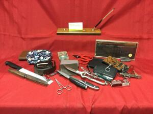 Knives, pocketknives, scissors, wallets and more!