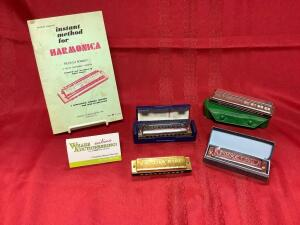 Harmonica pocket edition pamphlet, Frontier Harp, Blues Harp, Horner Echo & Pocket Pal. See Photos