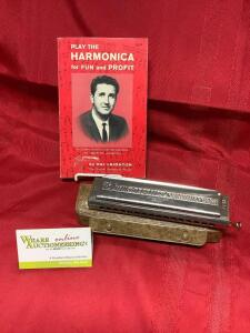 The 64 Chromonica by Hohner in the key of C, Play the Harmonica for Fun and Profit by Hal Leighton