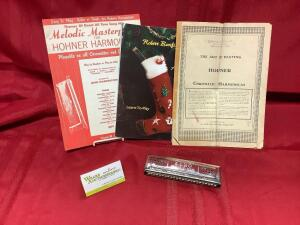 Hohner Echo harmonica. Melodic Masterpieces, Christmas learn to play, Five Hundred Miles & more