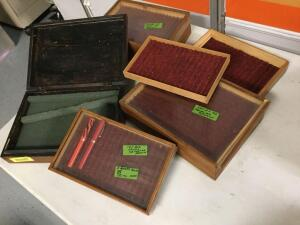 wooden boxes for storing pens-but could be modified to hold just about anything!!!