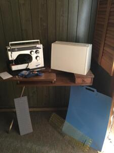 Viking 6170 Sewing Machine, Sewing Table, Measuring Boards