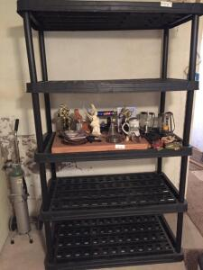 Plastic Shelving 43x23x72 (NO CONTENTS INCLUDED)