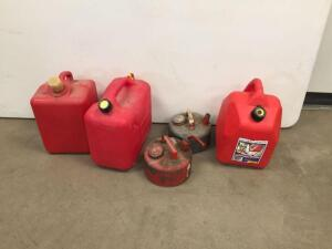 Gas cans (plastic and metal)