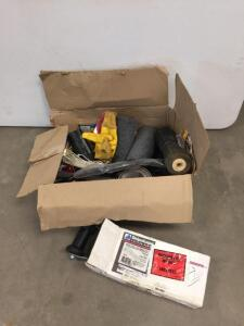 Bike parts, gloves, Keel roller bracket, boat trailer roller & more