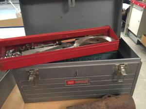Craftsman tool box, sockets, screwdrivers