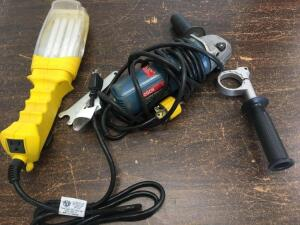 Trouble light, Bosch double insulated angle grinder