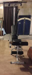 Bowflex Strength & Fitness weight machine, couple weights only (bring tools to take apart for removal)
