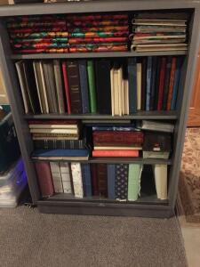 Metal All Steel bookcase 38x14x59 (no contents)