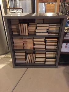 Metal book shelf 37 1/2 x 15x42 (no contents included)