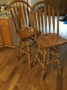 Matching 4' swivel barstools