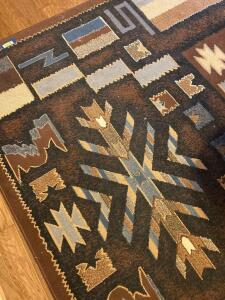 "Manhattan Pelham Brown oversized area rug 100% olefine pile Made in Turkey Measures 7'10"" x 10' 6"""