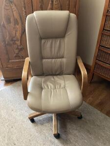 Office supplies like crazy and a nice adjustable height rolling office chair Does have some wear but is very comfortable!!