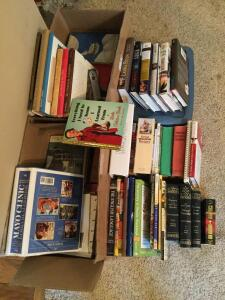 Books of all sorts-cooking, medical, fiction, nonfiction
