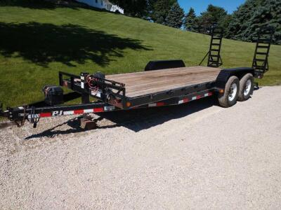 2009 PJ trailers, 18' with 2' tail and ramps