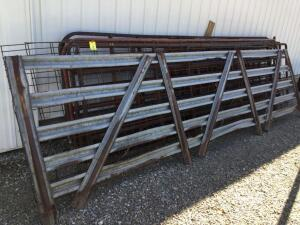Gates-15 1/2', 14'; five 16', 7', 5 1/2' and two 16' cattle panels