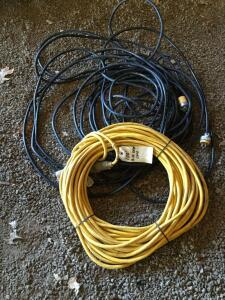 100' heavy duty drop cord and add'l length of drop cord
