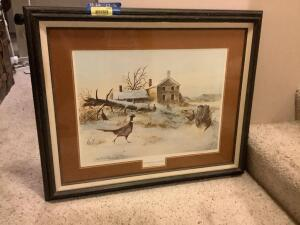 """Overnight Guests"" by Becky Krueger 1981 Signed and numbered 102/580 Framed measures 33 x 26 and image measures 22 x 16"