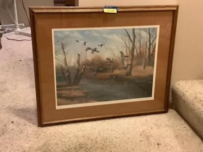 John Eberhardt print Signed and numbered 232/500 Framed measures 32 x 26 and image measures 23 x 18