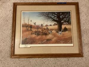 """The Best of Times"" by John S Eberhardt 1985 Signed and numbered artist proof 25/240 Framed measures 33 x 27 and image measures 25 x 17"