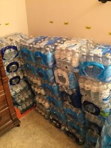 6 cases of water 16.9 oz