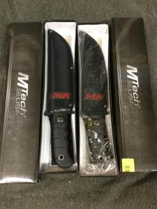 Qty 2 Mtech Xtreme brand knife, model # MT-096 new in box