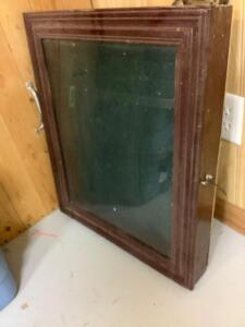 Glass top display case table top 21 x 24