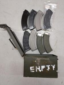 8 AK magazines to mags loaded and ammo box