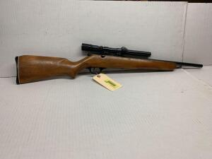 Harrington Richardson model 750 22 caliber rifle model pioneer no serial number visible, with a weaver scope bolt action