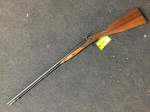 "Richland arms, black powder 12 ga 28.5"" barrel, side by side, exposed hammers no serial 5208 stamped on barrel"