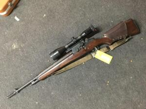 Springfield M1A 308 ca. National March rifle, Springfield 14 power scope,