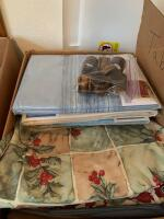 Linens, table clothes, placemats (some new). Very pretty vintage embroidered runners!! - 6