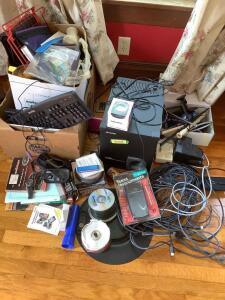 Electronics-Aiwa subwoofer, Dell keyboard, HDMI cable, Philips ActiveLink 2.0, Texas Instruments TI-83 Plus calculator, and much more!
