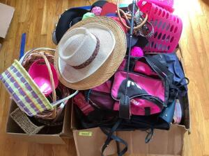 Bags, purses, hats, baskets and more