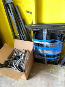 Shelf parts and metal wall brackets