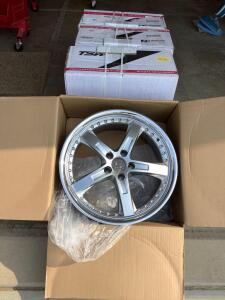 Four NIB aluminum sport wheels  See photos for details