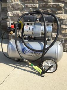California Air tools ultra quiet air compressor 5.5 gal 1hp