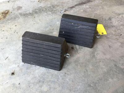 Two wheel chocks