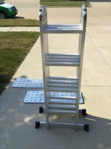 Aluminum Multi-Purpose Ladder w/2 Alum Walk Boards