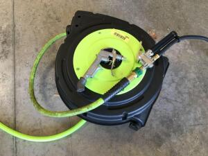 FlexZilla ZillaReel Retractable Air hose reel 50' w/ extra blow gun