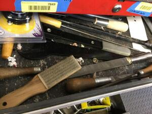 Contents of Drawers of bottom cabinet only-drill bits, files, etc